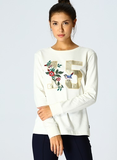 North Of Navy Sweatshirt Ekru